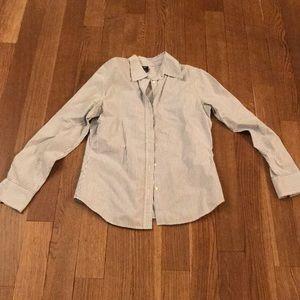 Navy and white striped Gap shirt